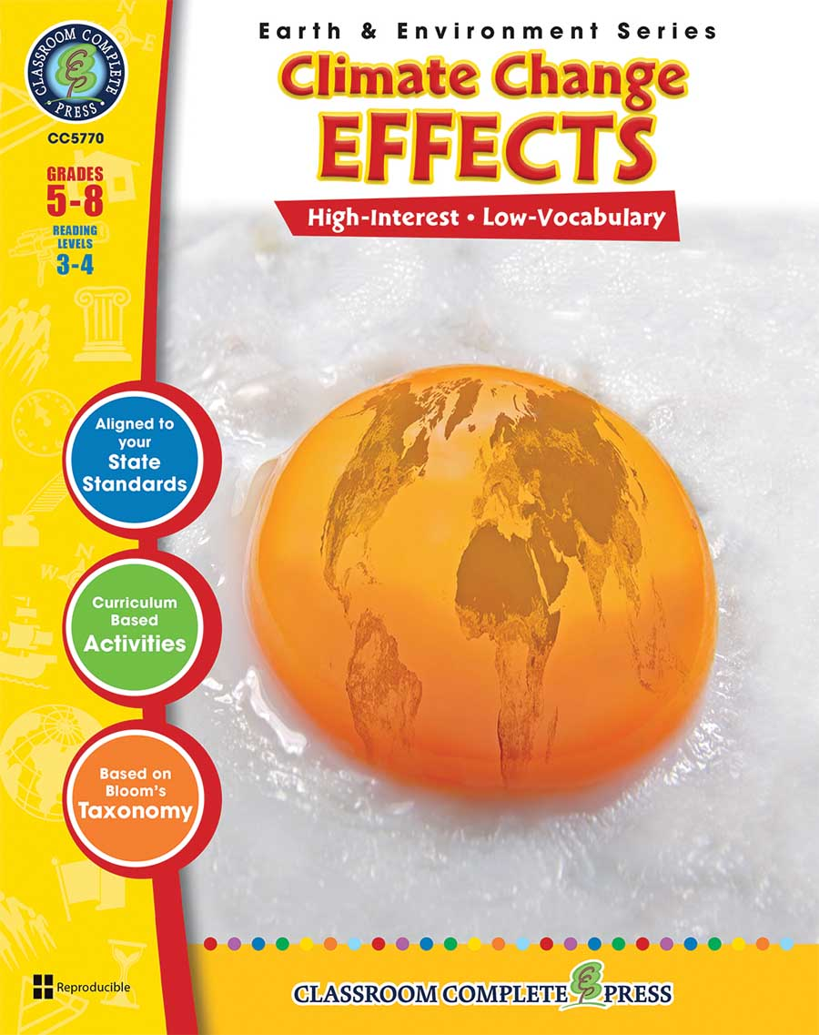 Climate Change: Effects Gr. 5-8 - print book