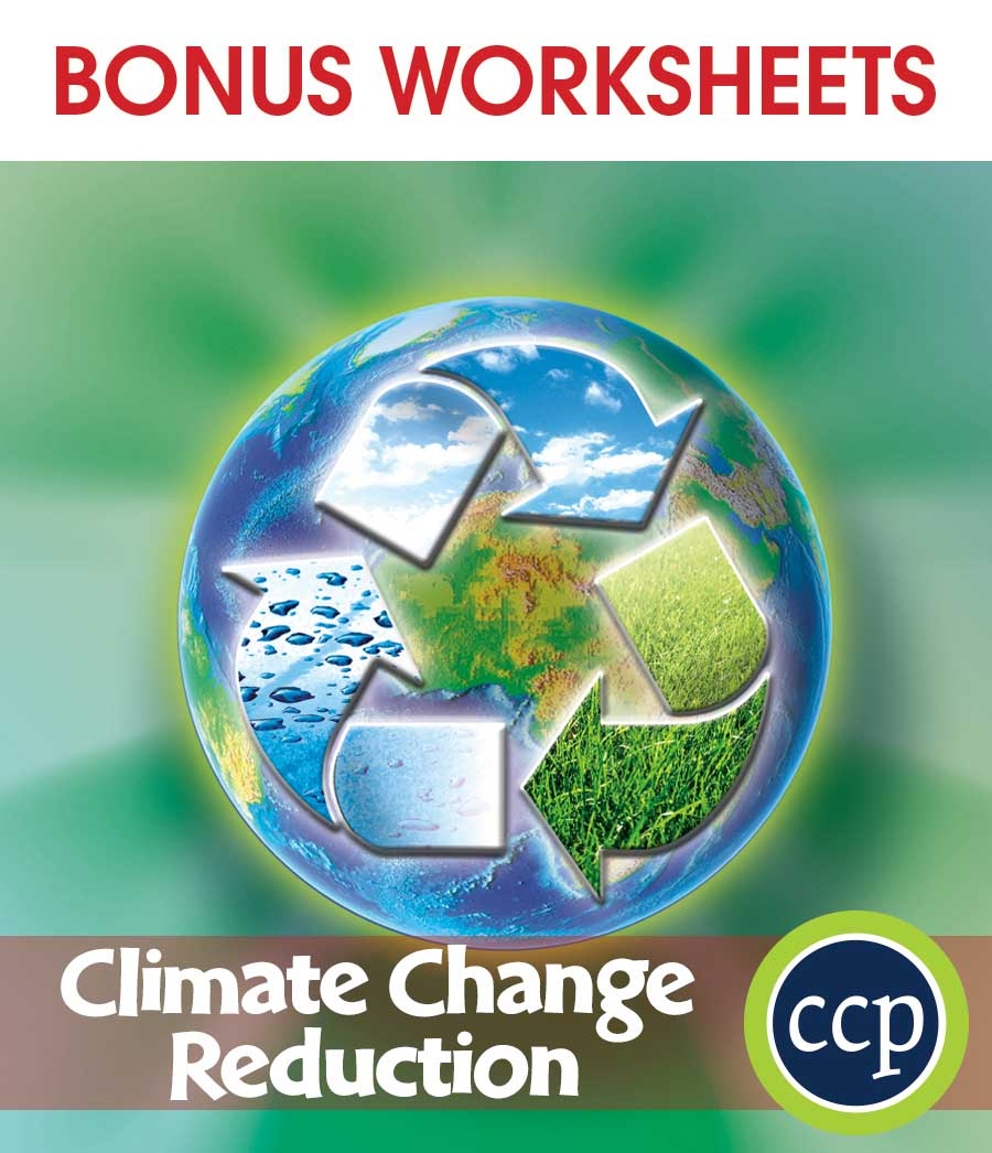 Global Warming: Reduction Gr. 5-8 - BONUS WORKSHEETS - eBook