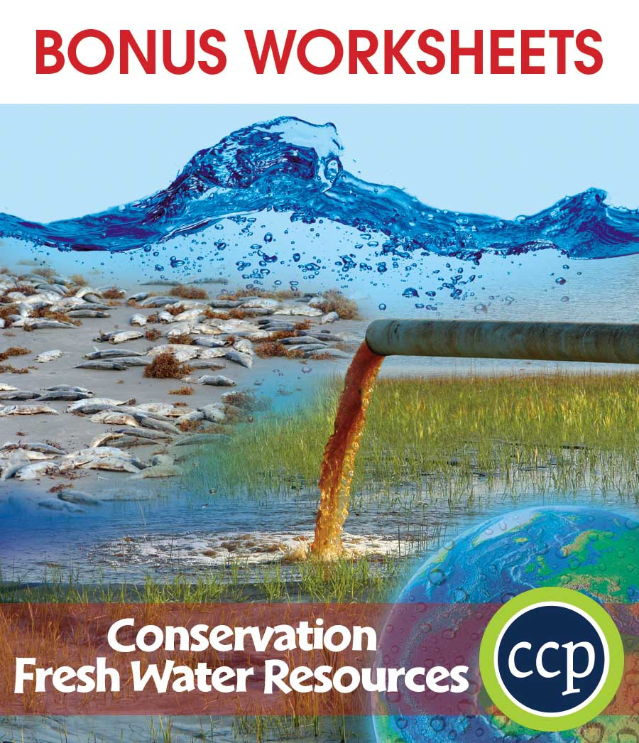 Conservation: Fresh Water Resources Gr. 5-8 - BONUS WORKSHEETS - eBook