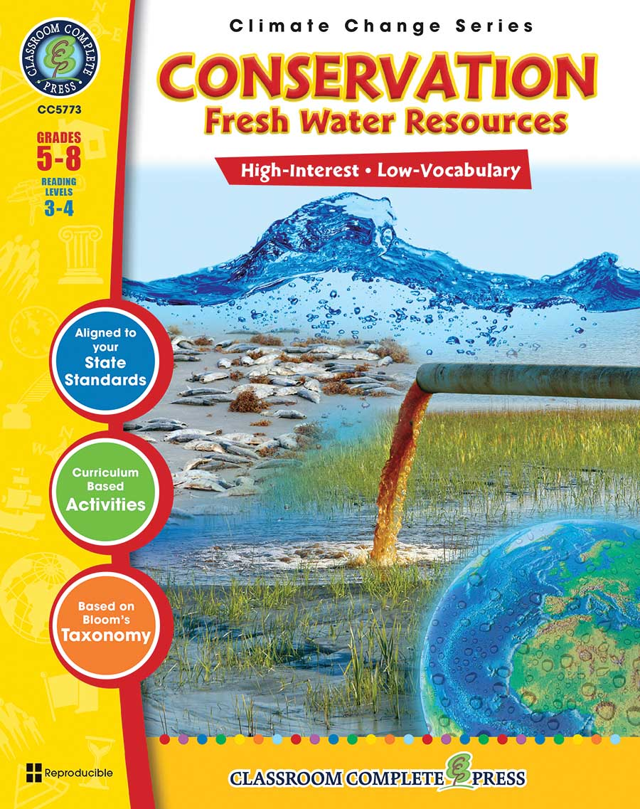 Conservation: Fresh Water Resources Gr. 5-8 - print book
