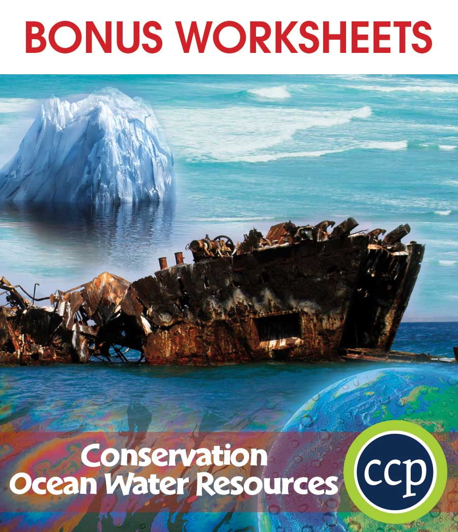 Conservation: Ocean Water Resources Gr. 5-8 - BONUS WORKSHEETS - eBook