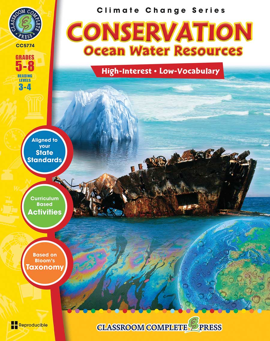 Conservation: Ocean Water Resources Gr. 5-8 - print book