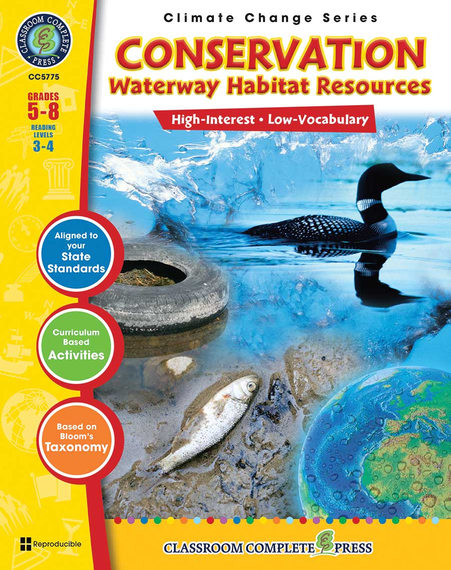 Conservation: Waterway Habitat Resources Gr. 5-8 - print book
