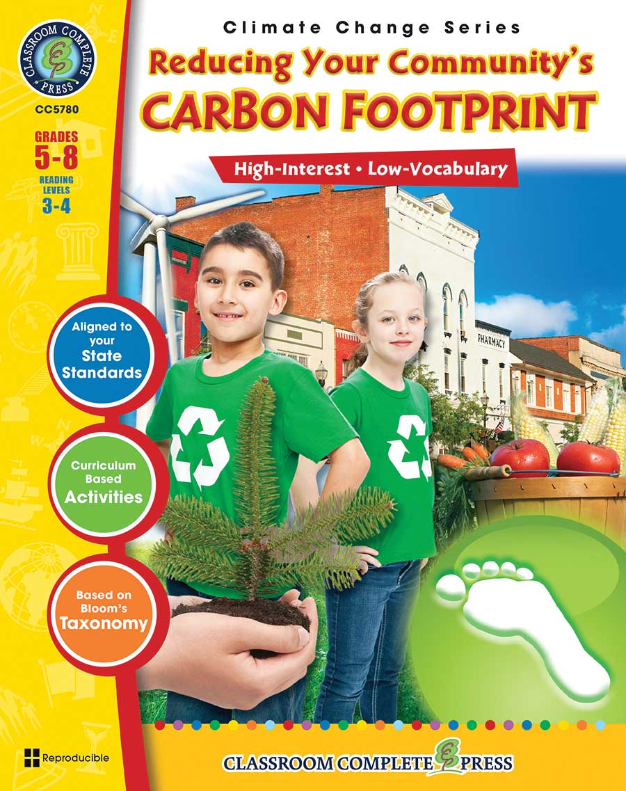 Reducing Your Community's Carbon Footprint Gr. 5-8 - print book