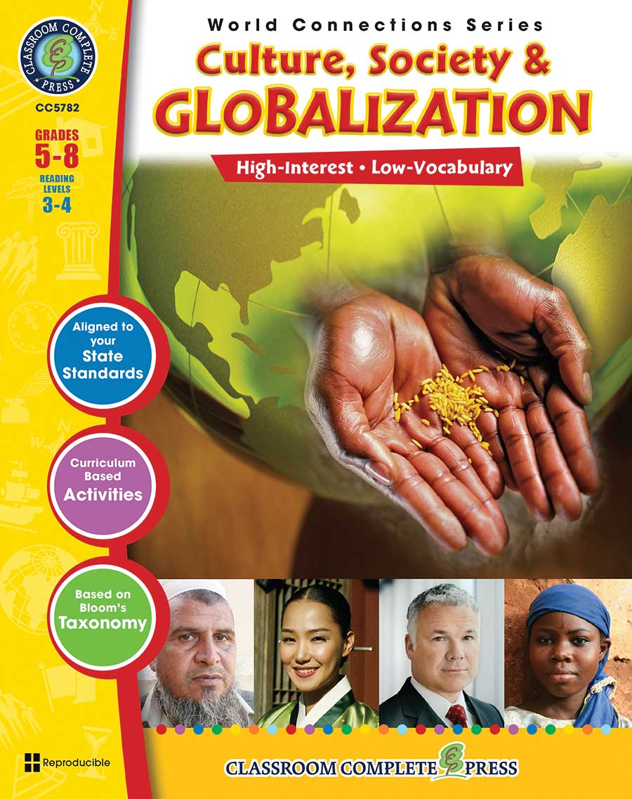 Culture, Society & Globalization Gr. 5-8 - print book
