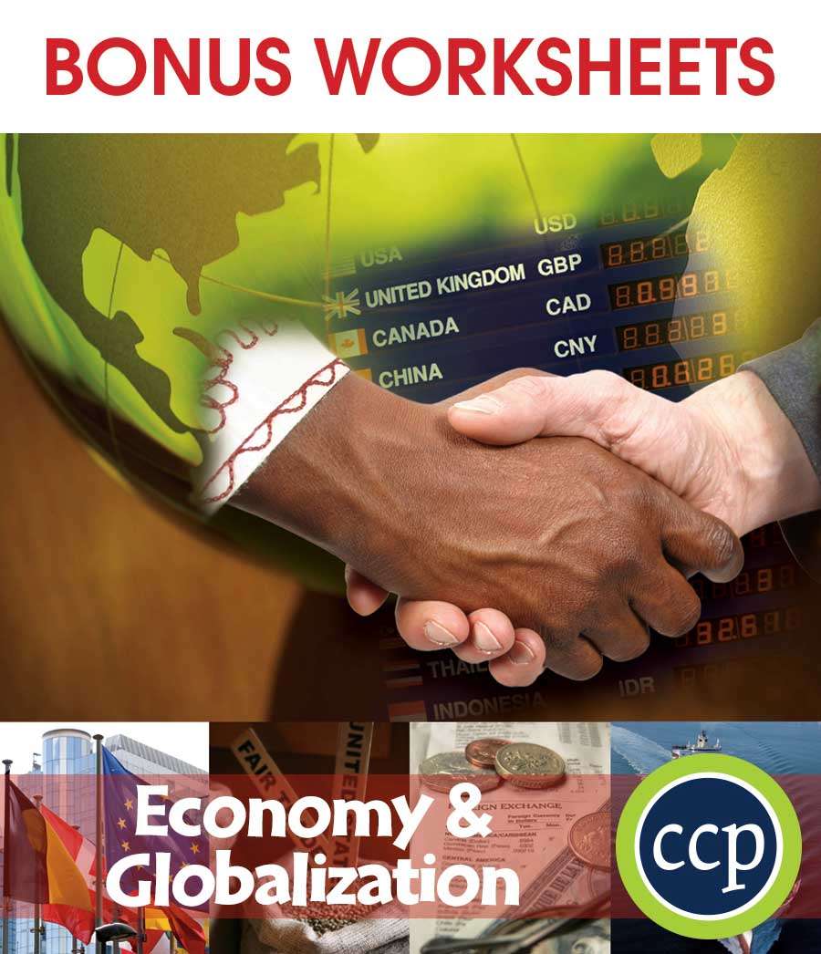 Economy & Globalization Gr. 5-8 - BONUS WORKSHEETS - eBook