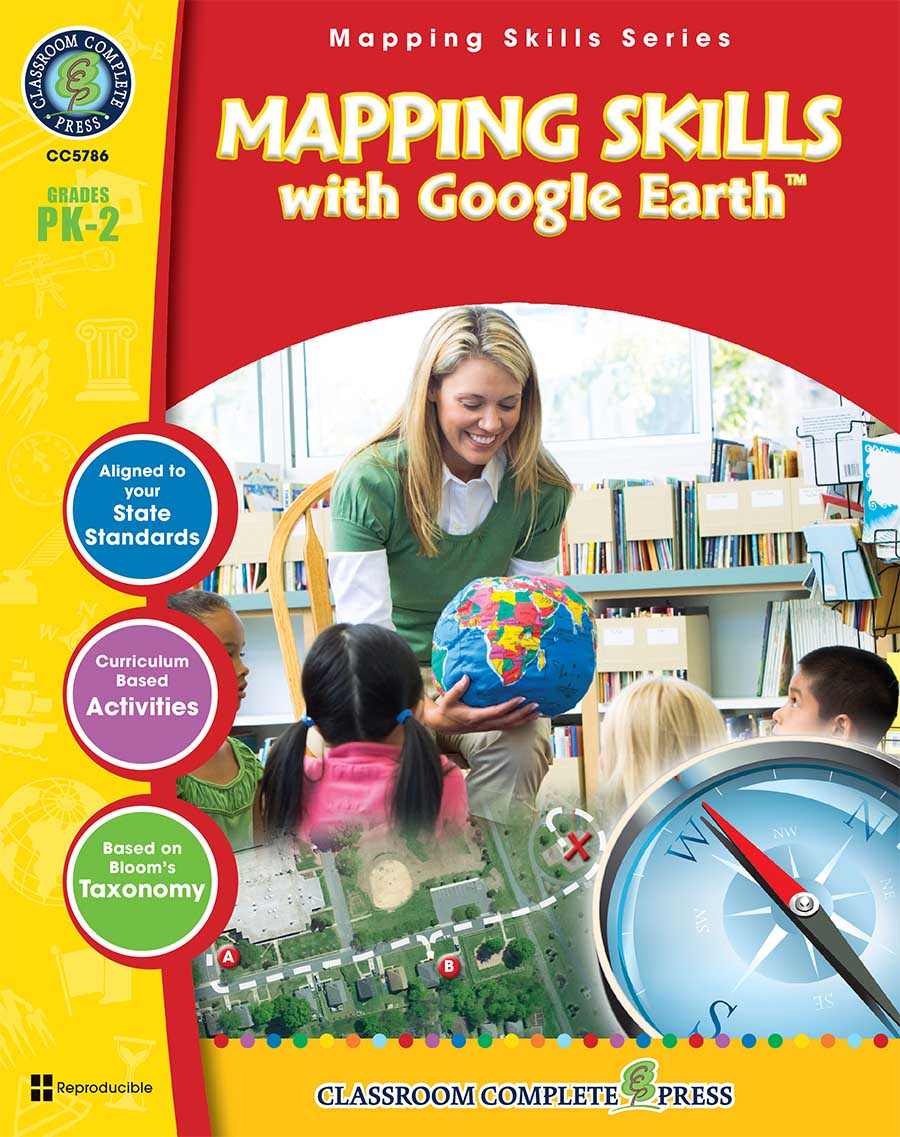 Mapping Skills with Google Earth Gr. PK-2 - print book