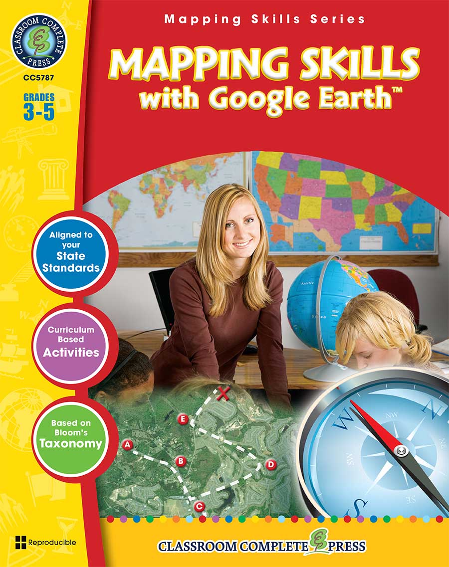 Mapping Skills with Google Earth Gr. 3-5 - print book