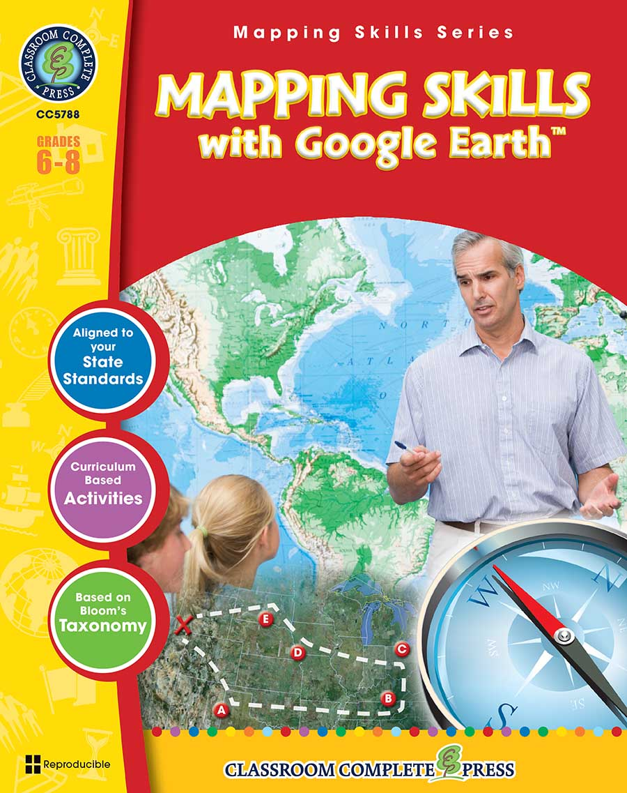 Mapping Skills with Google Earth Gr. 6-8 - print book