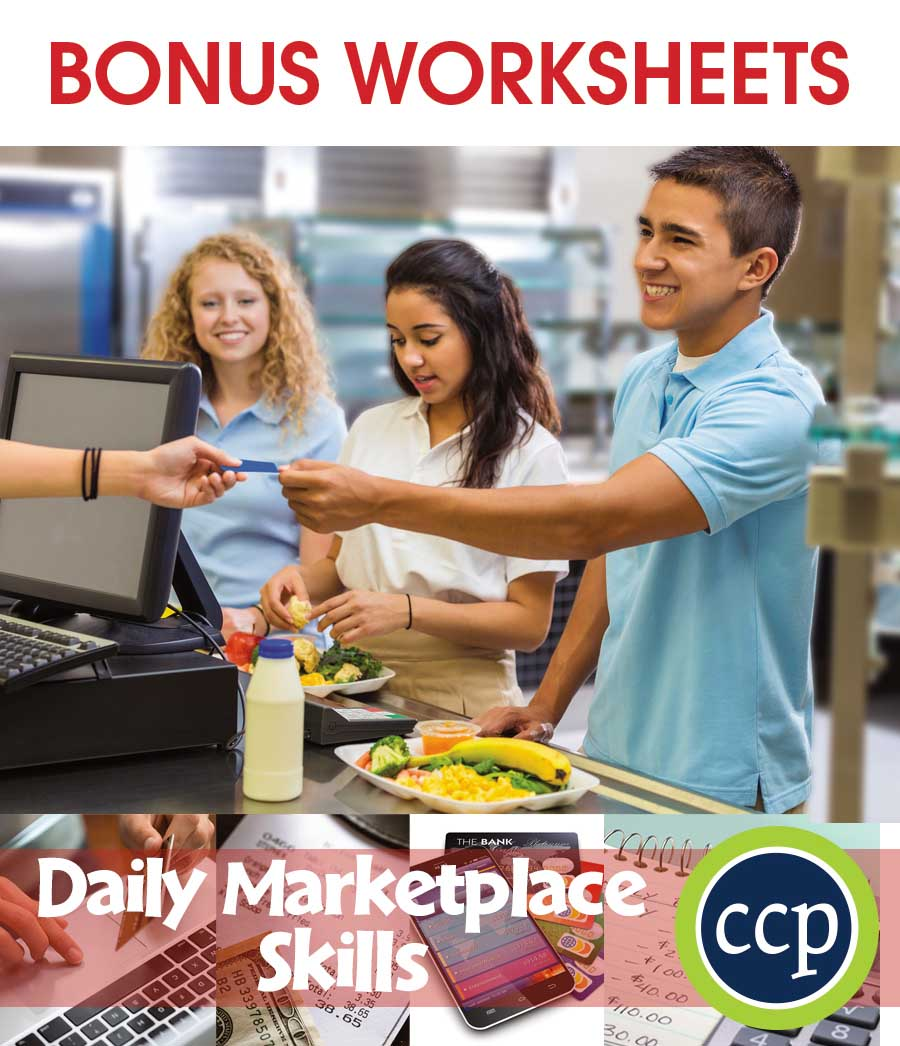 Daily Marketplace Skills Gr. 9-12 - BONUS WORKSHEETS - eBook