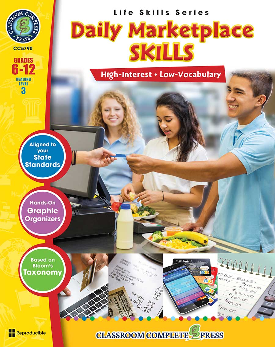 Daily Marketplace Skills Gr. 6-12 - print book