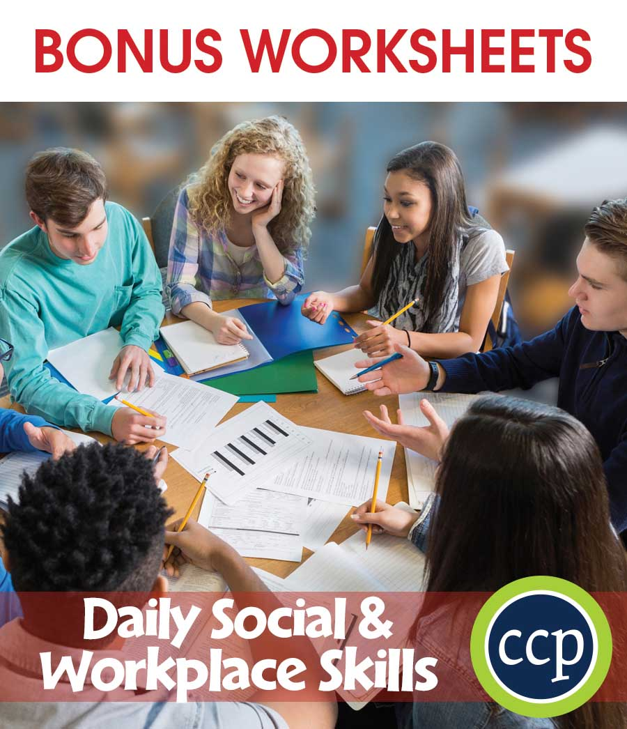 Daily Social & Workplace Skills Gr. 9-12 - BONUS WORKSHEETS - eBook