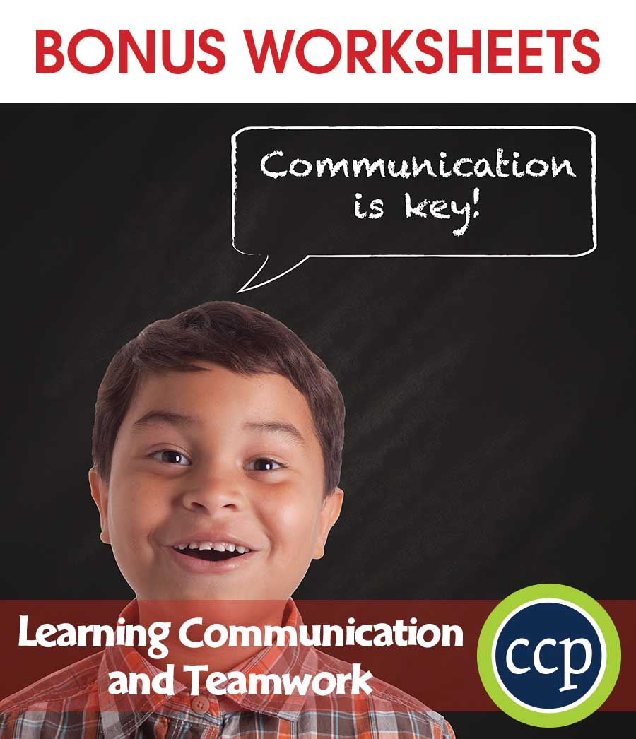 21st Century Skills - Learning Communication & Teamwork Gr. 3-8+ - BONUS WORKSHEETS - eBook
