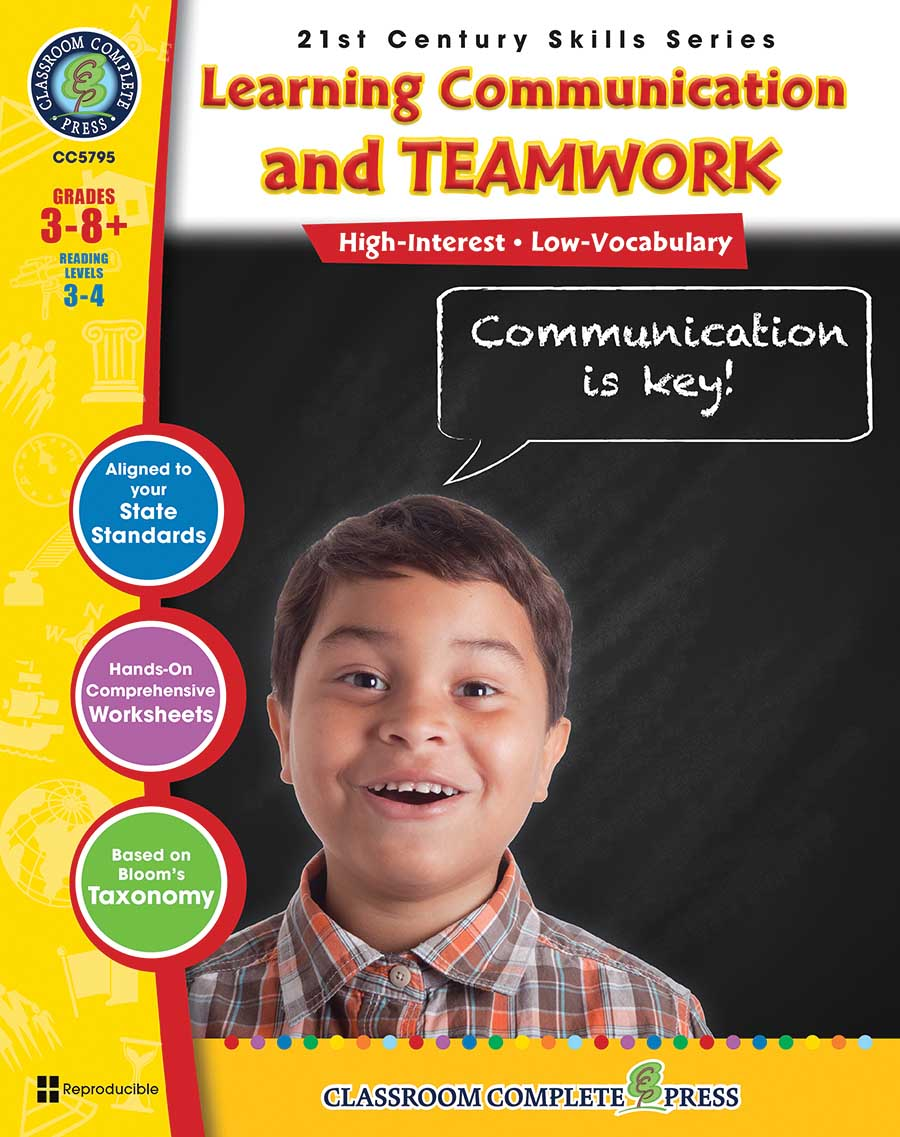 21st Century Skills - Learning Communication & Teamwork Gr. 3-8+ - print book