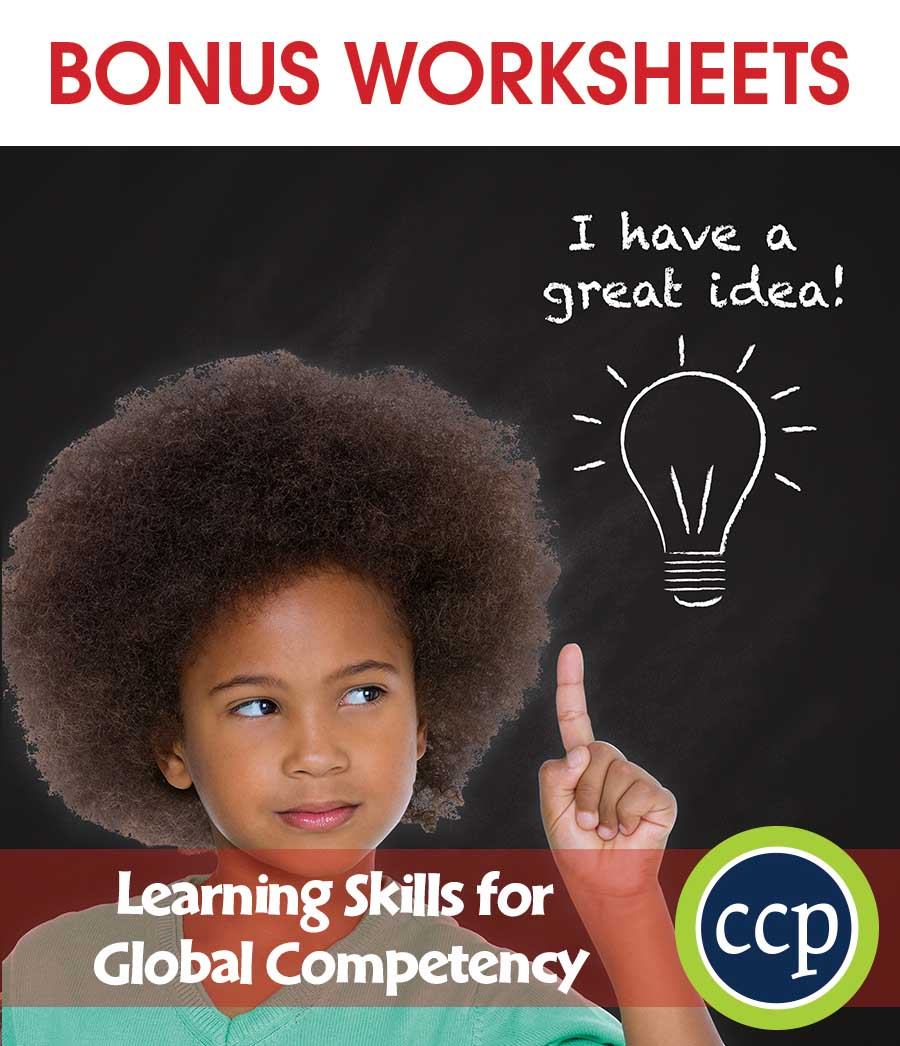 21st Century Skills - Learning Skills for Global Competency Gr. 3-8+ - BONUS WORKSHEETS - eBook
