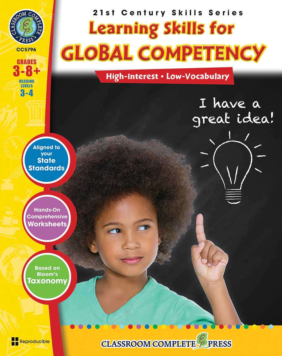 21st Century Skills - Learning Skills for Global Competency Gr. 3-8+ - print book