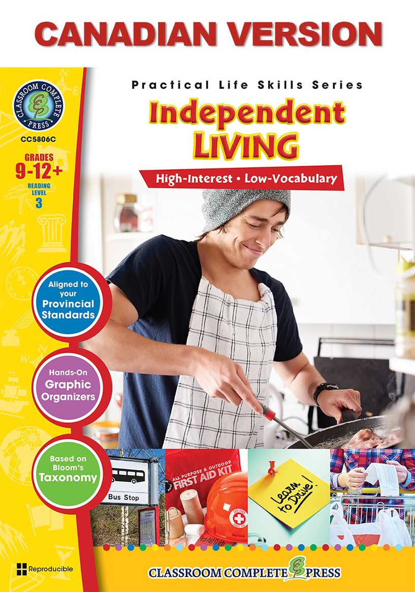 Practical Life Skills - Independent Living - Canadian Content Gr. 9-12+ - print book