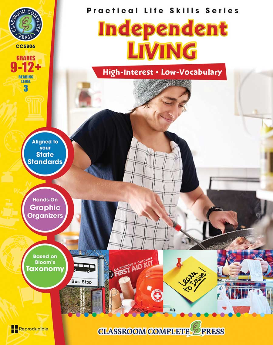 Practical Life Skills - Independent Living Gr. 9-12+ - print book
