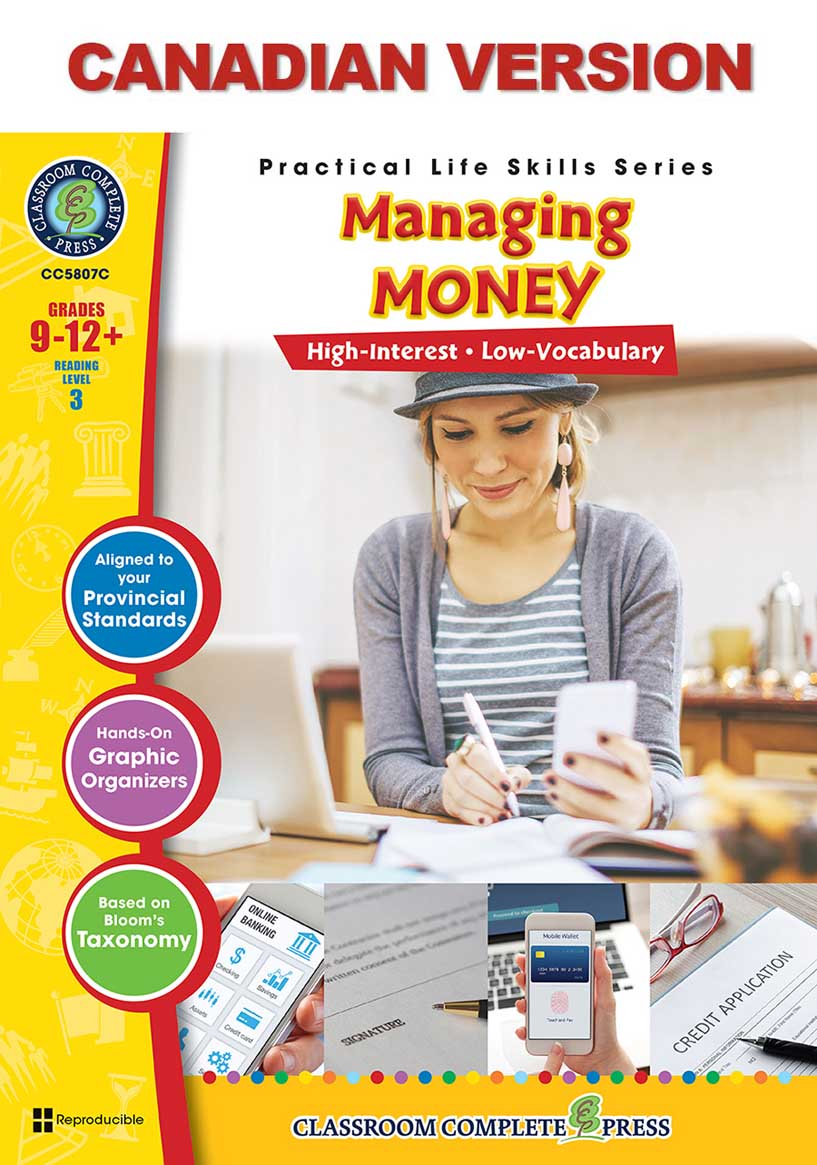 Practical Life Skills - Managing Money - Canadian Content Gr. 9-12+ - print book