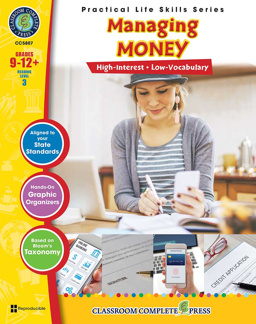 Practical Life Skills - Managing Money Gr. 9-12+ - print book