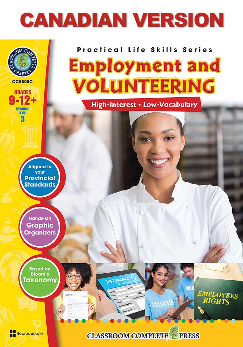 Practical Life Skills - Employment & Volunteering - Canadian Content Gr. 9-12+ - print book
