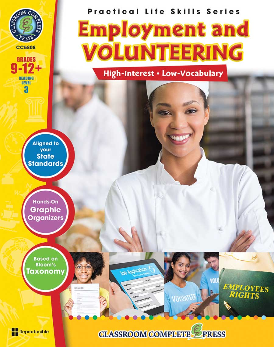 Practical Life Skills - Employment & Volunteering Gr. 9-12+ - print book