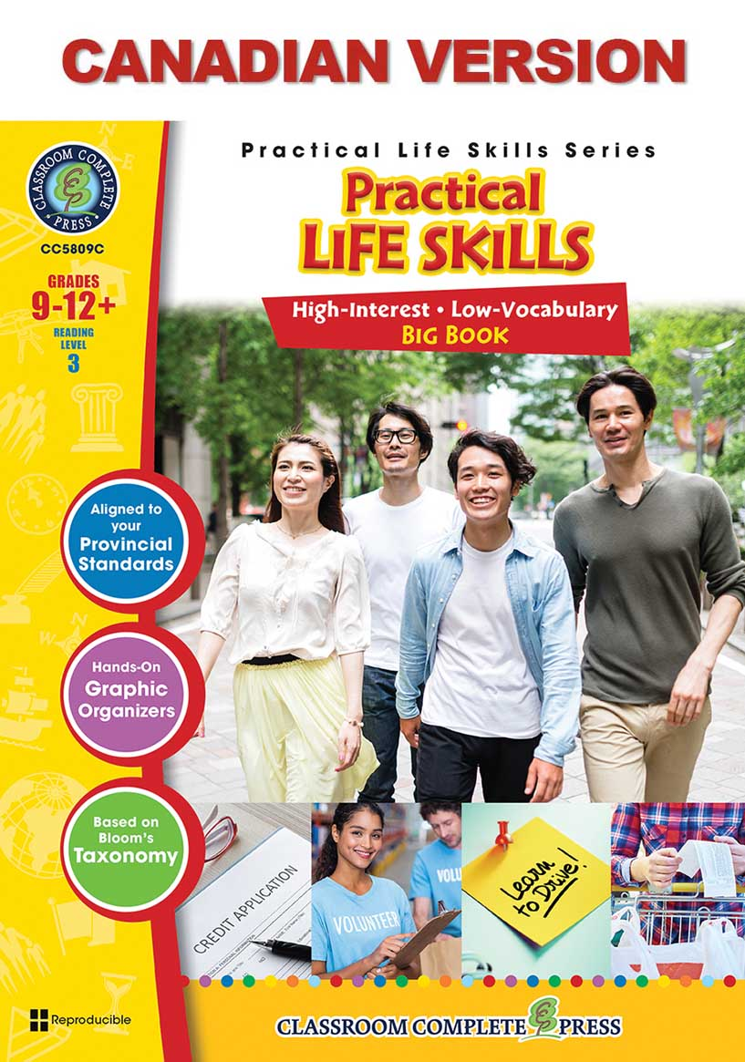 Practical Life Skills Big Book - Canadian Content Gr. 9-12+ - print book