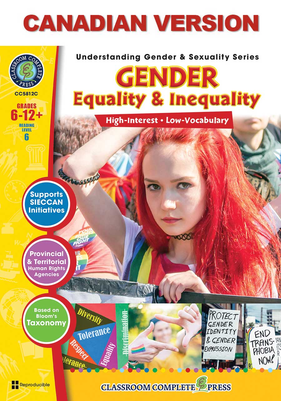 Gender Equality & Inequality - Canadian Content Gr. 6-Adult - print book