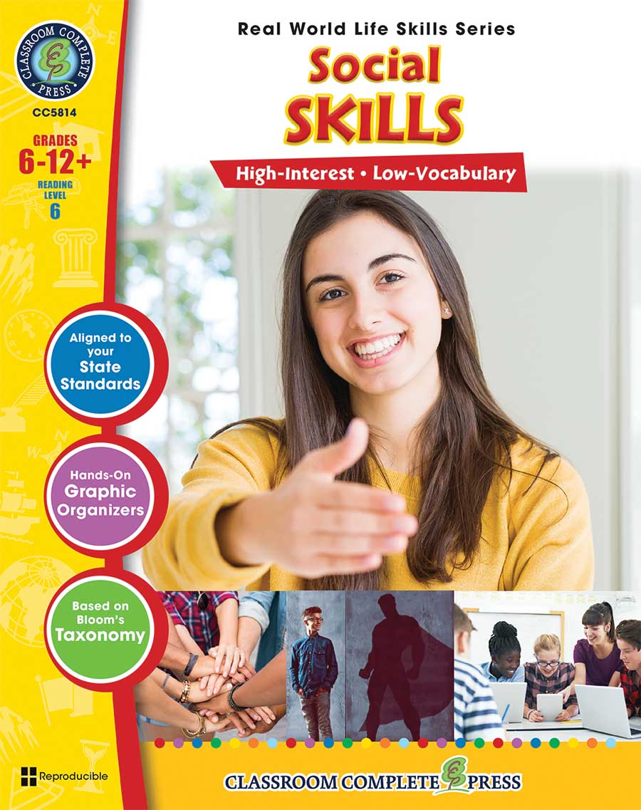 Real World Life Skills - Social Skills Gr. 6-12+ - print book