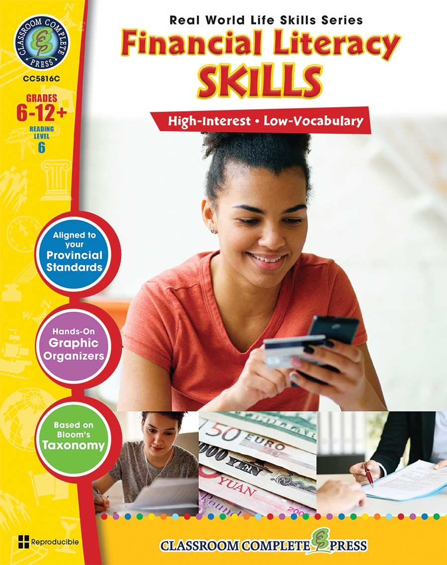 Real World Life Skills - Financial Literacy Skills - Canadian Content Gr. 6-12+ - print book