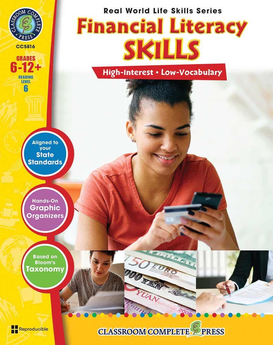 Real World Life Skills - Financial Literacy Skills Gr. 6-12+ - print book