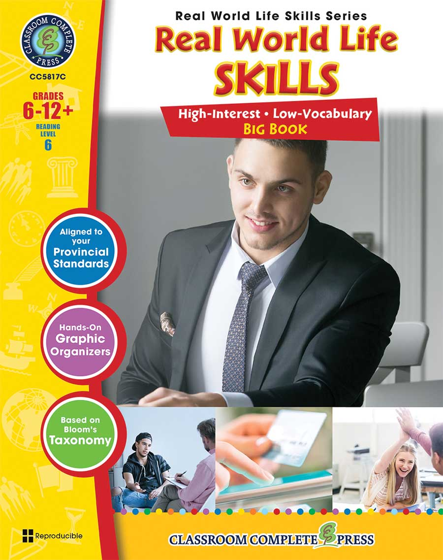 Real World Life Skills Big Book - Canadian Content Gr. 6-12+ - print book