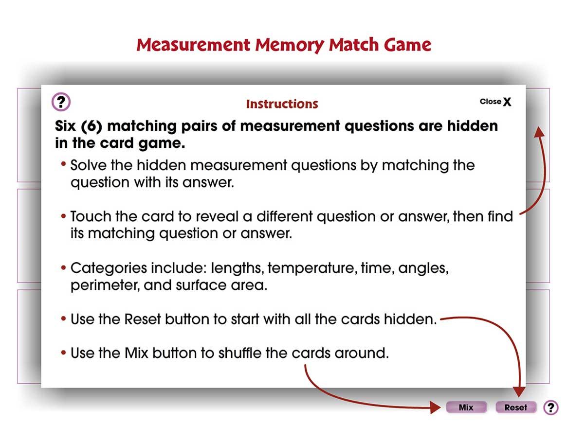 Measurement: Memory Match Game - 3-5 - - CCP Interactive