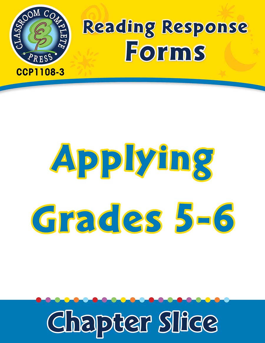 Reading Response Forms: Applying Gr. 5-6 - Chapter Slice eBook