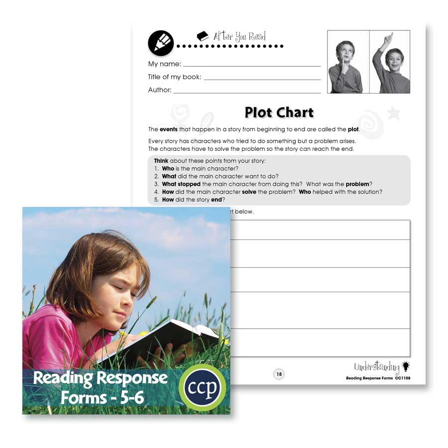 Reading Response Forms: Plot Chart Gr. 5-6 - WORKSHEETS - eBook
