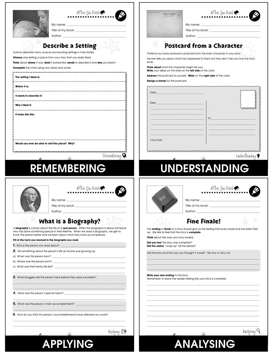 Reading Response Forms Gr. 5-6 - eBook