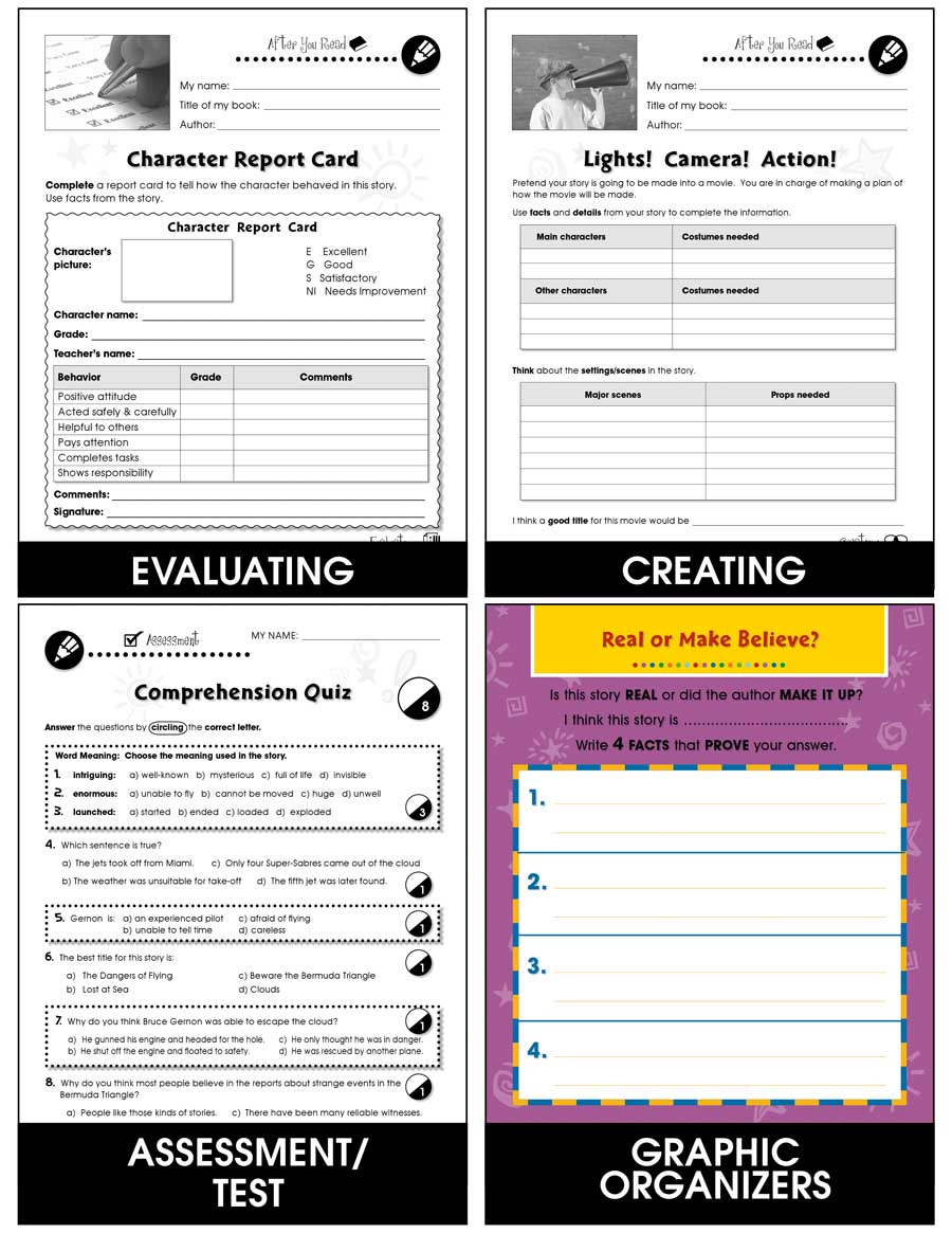 Reading Response Forms Big Book Gr. 1-6 - eBook