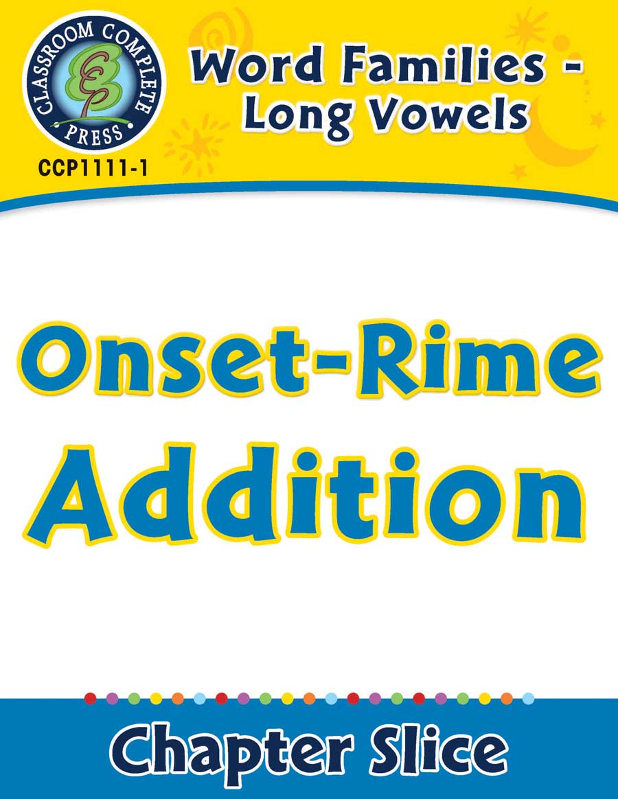 Word Families - Long Vowels: Onset-Rime Addition - Chapter Slice eBook