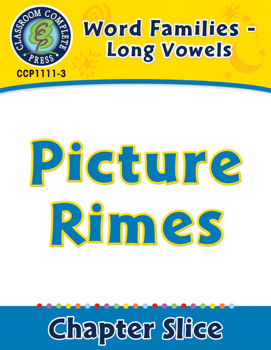 Word Families - Long Vowels: Picture Rimes - Chapter Slice eBook
