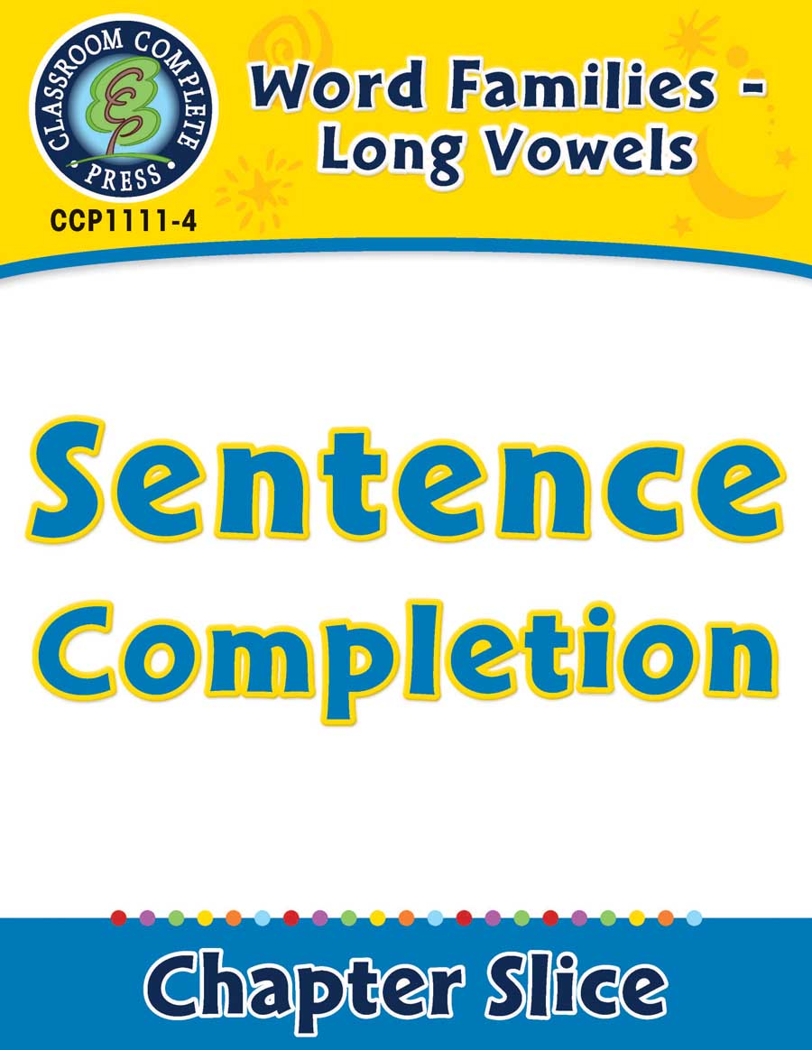 Word Families - Long Vowels: Sentence Completion - Chapter Slice eBook