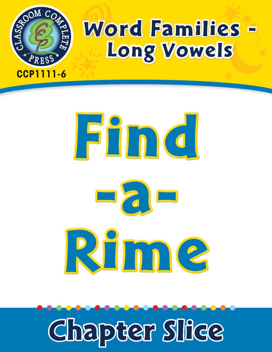 Word Families - Long Vowels: Find-a-Rime - Chapter Slice eBook