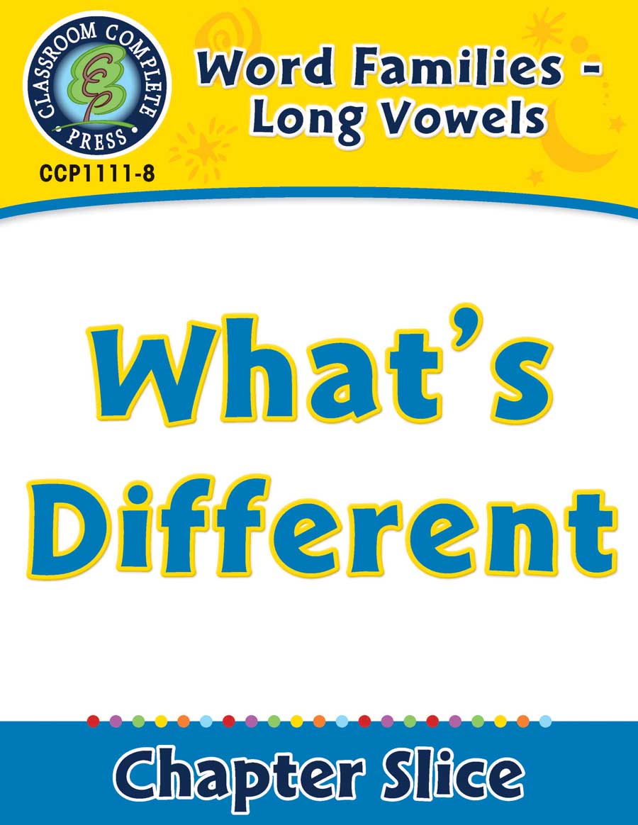 Word Families - Long Vowels: What's Different - Chapter Slice eBook
