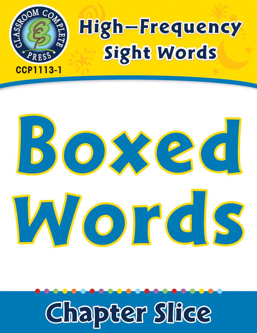 High-Frequency Sight Words: Boxed Words - Chapter Slice eBook