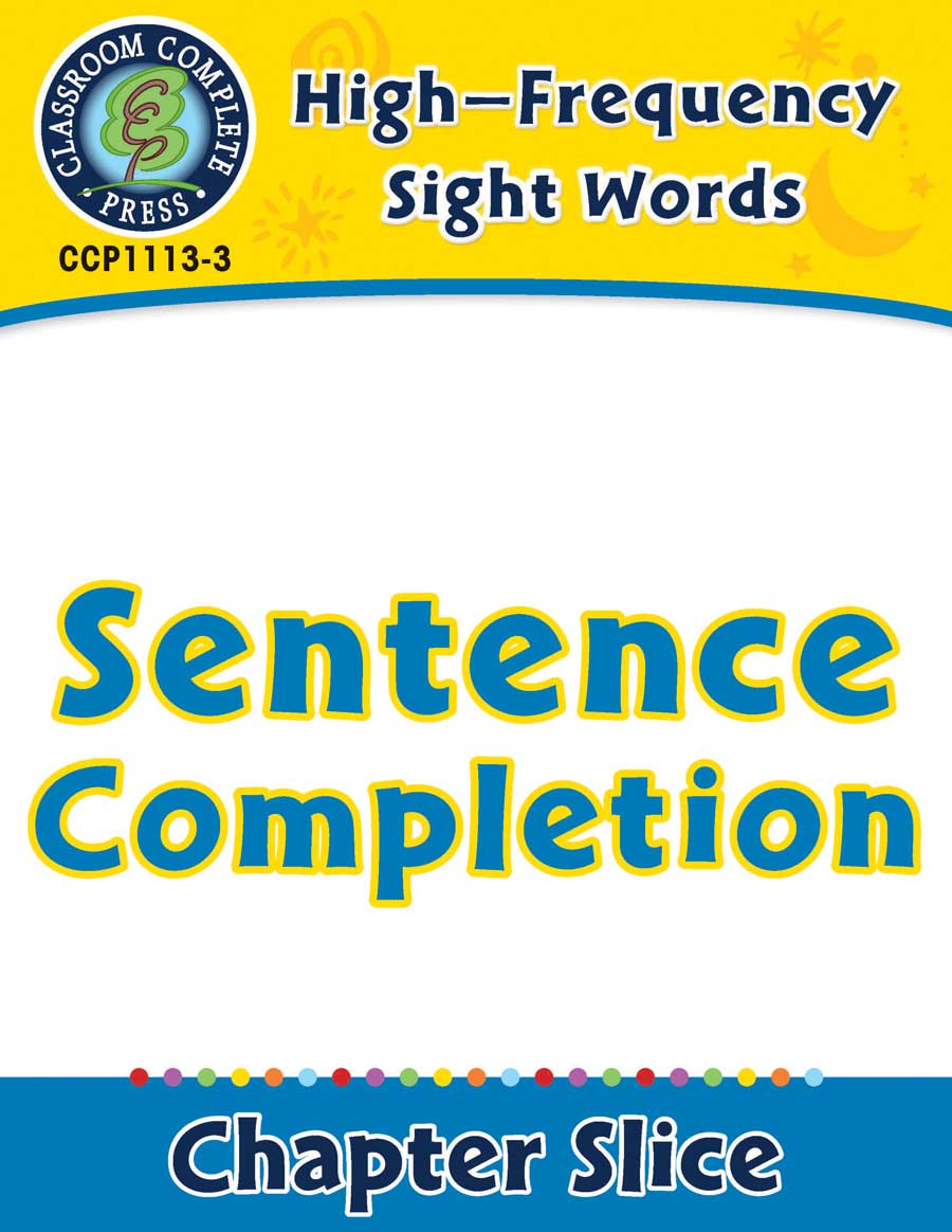High-Frequency Sight Words: Sentence Completion - Chapter Slice eBook