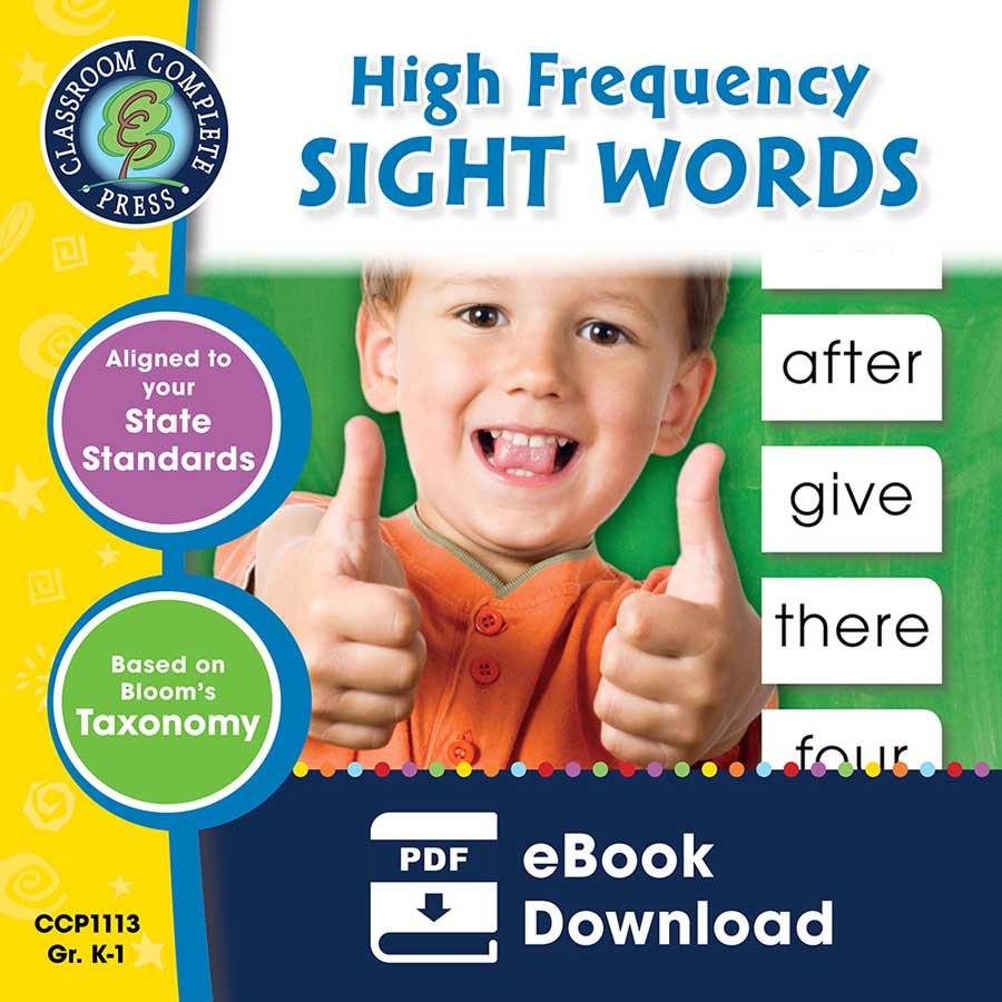 High Frequency Sight Words Gr. PK-2 - eBook