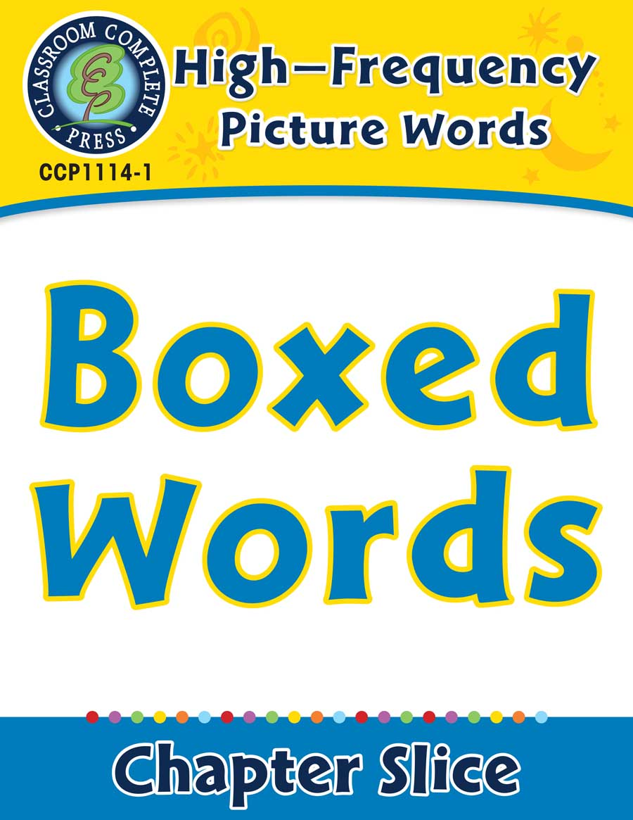 High-Frequency Picture Words: Boxed Words - Chapter Slice eBook