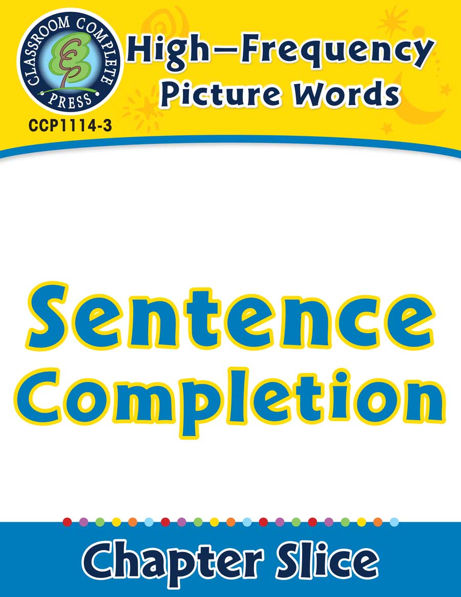 High-Frequency Picture Words: Sentence Completion - Chapter Slice eBook