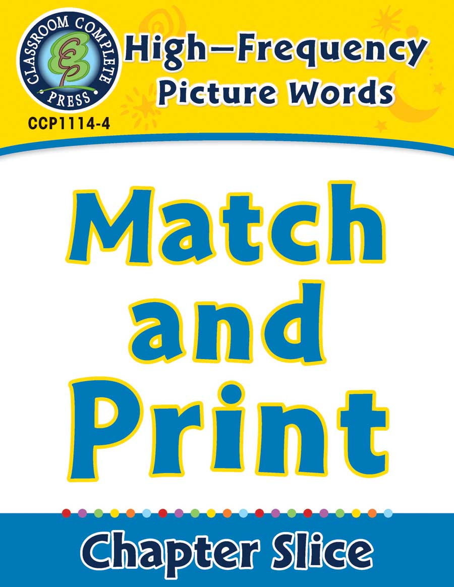 High-Frequency Picture Words: Match and Print - Chapter Slice eBook