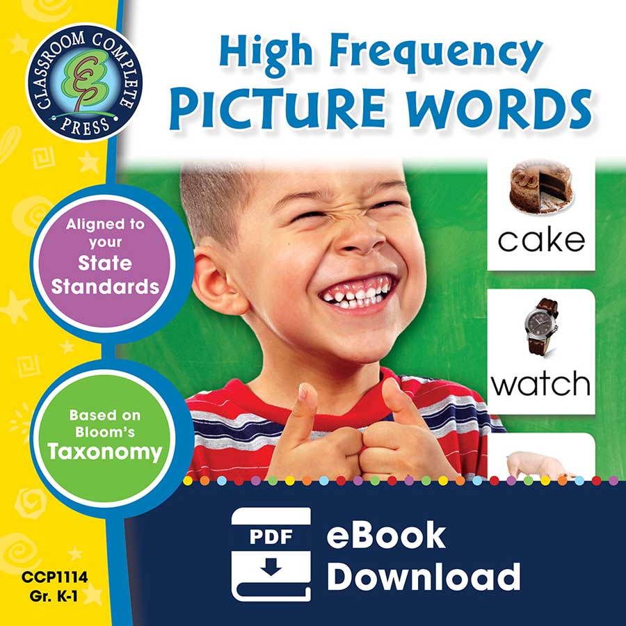 High Frequency Picture Words Gr. PK-2 - eBook