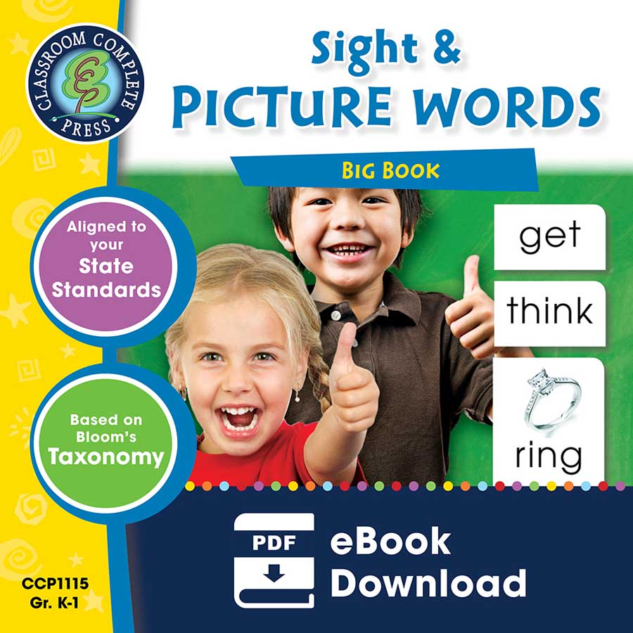 Sight & Picture Words Big Book Gr. PK-2 - eBook
